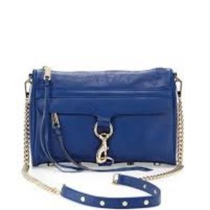 Rebecca Minkoff MAC Crossbody Bag, Metallic Blue